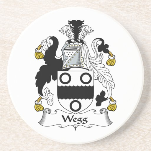 Escudo de la familia de Wegg Posavasos Manualidades