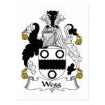 Escudo de la familia de Wegg Tarjetas Postales