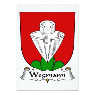 """Escudo de la familia de Wegmann Invitación 5"""" X 7"""""""