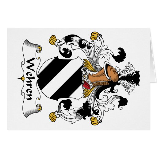 Escudo de la familia de Wehren Felicitación