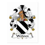 Escudo de la familia de Wehren Postal