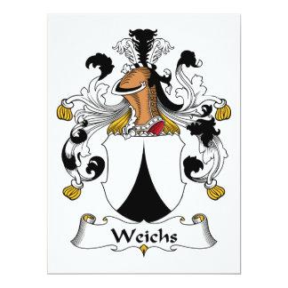 """Escudo de la familia de Weichs Invitación 6.5"""" X 8.75"""""""