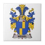 Escudo de la familia de Weigel Azulejos Cerámicos