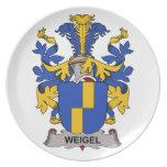 Escudo de la familia de Weigel Plato