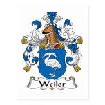 Escudo de la familia de Weiler Postal