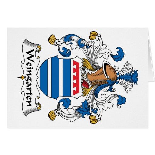 Escudo de la familia de Weingarten Tarjeta De Felicitación