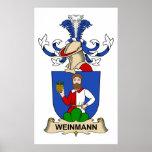 Escudo de la familia de Weinmann Posters