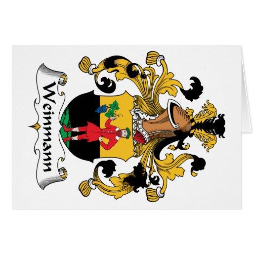 Escudo de la familia de Weinmann Tarjeta De Felicitación