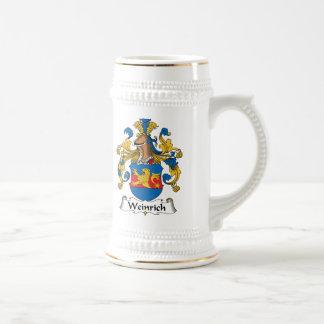 Escudo de la familia de Weinrich Jarra De Cerveza
