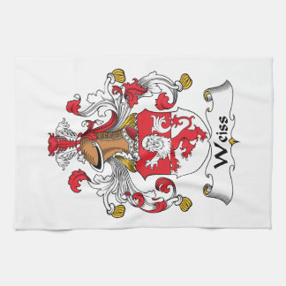 Escudo de la familia de Weiss Toallas De Cocina