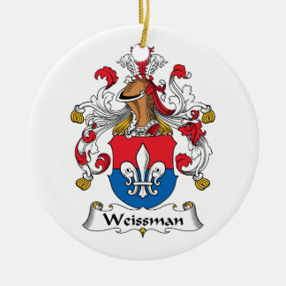 Escudo de la familia de Weissmann Adorno Navideño Redondo De Cerámica