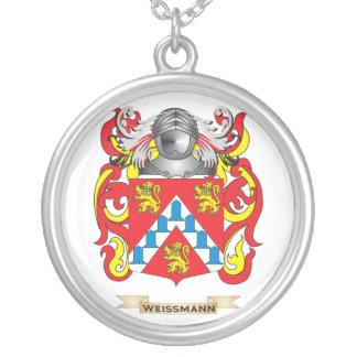 Escudo de la familia de Weissmann (escudo de armas Colgante Redondo