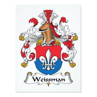"""Escudo de la familia de Weissmann Invitación 6.5"""" X 8.75"""""""