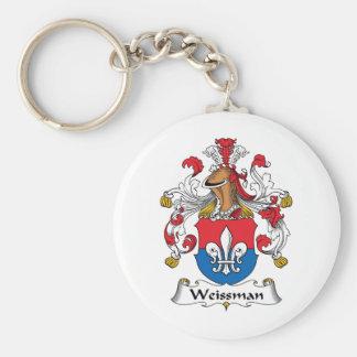 Escudo de la familia de Weissmann Llavero Redondo Tipo Pin