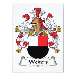"""Escudo de la familia de Weiters Invitación 6.5"""" X 8.75"""""""
