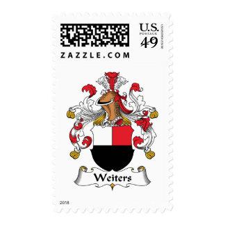 Escudo de la familia de Weiters Sello Postal