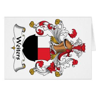 Escudo de la familia de Weiters Tarjeta De Felicitación