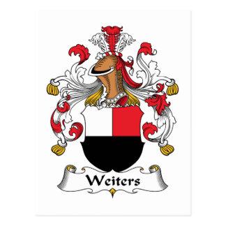 Escudo de la familia de Weiters Tarjeta Postal