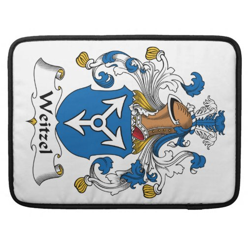 Escudo de la familia de Weitzel Fundas Para Macbooks