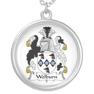 Escudo de la familia de Welburn Colgante Redondo