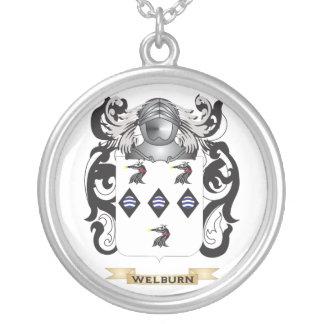 Escudo de la familia de Welburn (escudo de armas) Colgante Redondo