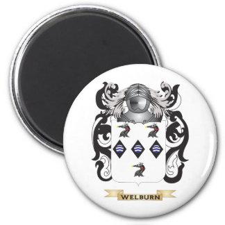 Escudo de la familia de Welburn (escudo de armas) Imán Redondo 5 Cm