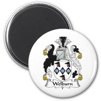 Escudo de la familia de Welburn Imán Redondo 5 Cm