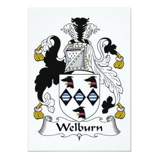 """Escudo de la familia de Welburn Invitación 5"""" X 7"""""""