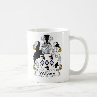Escudo de la familia de Welburn Taza Clásica