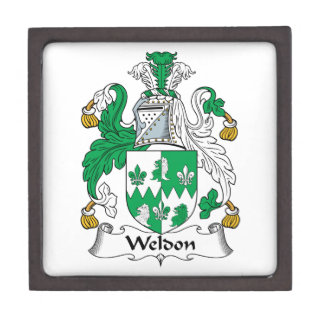 Escudo de la familia de Weldon Caja De Recuerdo De Calidad