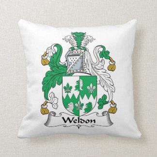 Escudo de la familia de Weldon Cojín