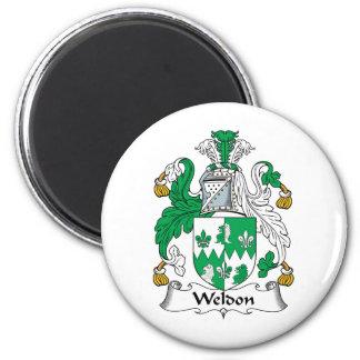 Escudo de la familia de Weldon Imán Redondo 5 Cm