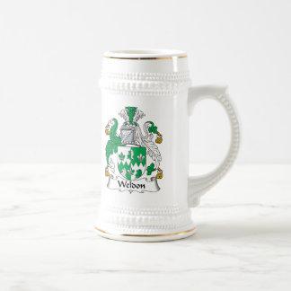 Escudo de la familia de Weldon Jarra De Cerveza