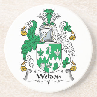 Escudo de la familia de Weldon Posavasos Diseño