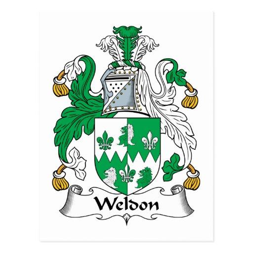 Escudo de la familia de Weldon Postales