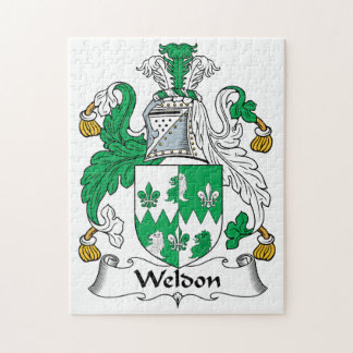 Escudo de la familia de Weldon Rompecabeza Con Fotos