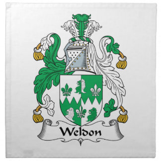 Escudo de la familia de Weldon Servilletas De Papel