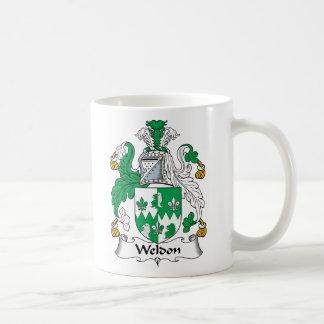 Escudo de la familia de Weldon Taza Básica Blanca