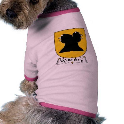 Escudo de la familia de Wellenberg Camisa De Mascota