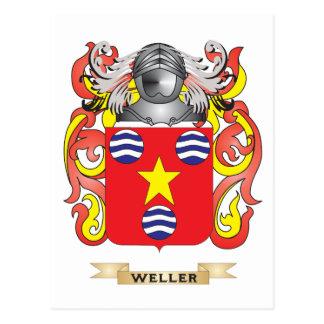 Escudo de la familia de Weller (escudo de armas) Tarjetas Postales
