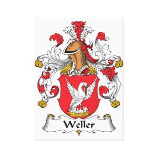 Escudo de la familia de Weller Impresion En Lona