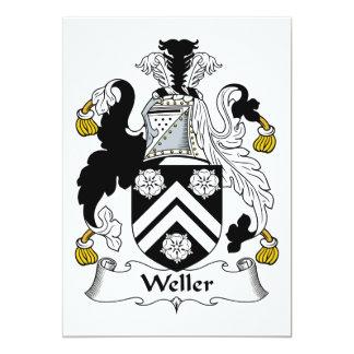 """Escudo de la familia de Weller Invitación 5"""" X 7"""""""