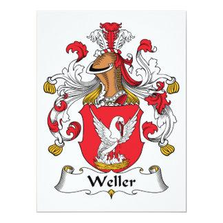 """Escudo de la familia de Weller Invitación 6.5"""" X 8.75"""""""