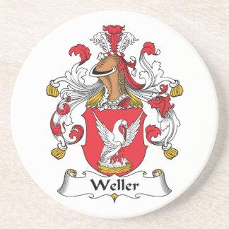 Escudo de la familia de Weller Posavasos Para Bebidas