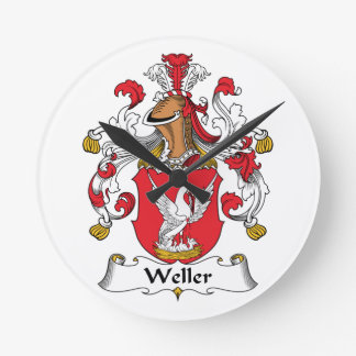 Escudo de la familia de Weller Reloj