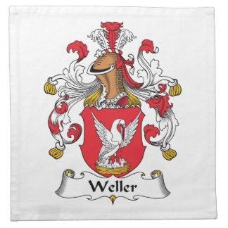 Escudo de la familia de Weller Servilleta