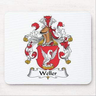 Escudo de la familia de Weller Alfombrillas De Raton