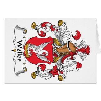 Escudo de la familia de Weller Tarjeta De Felicitación