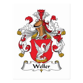 Escudo de la familia de Weller Tarjetas Postales