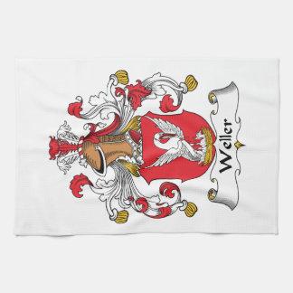 Escudo de la familia de Weller Toallas De Mano